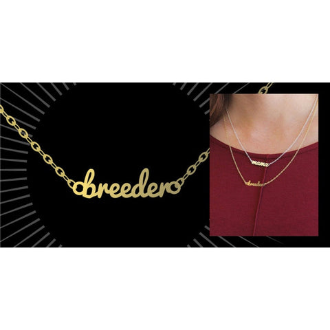 gold BREEDER necklace