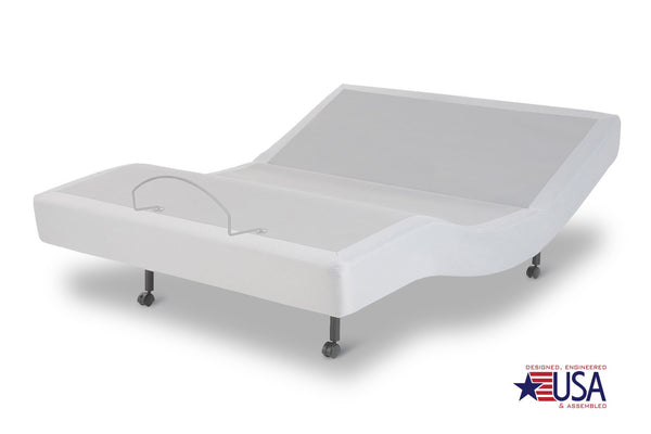 Signature Gray Adjustable Bed Base - Factory Bed