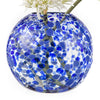 "Fishbowl Vase - 10"" Cobalt Speckled"