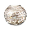 Fishbowl Vase - Chocolate Cobweb W/Luster - 8""