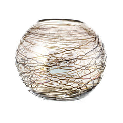 "Fishbowl Vase - 10"" Chocolate Cobweb"