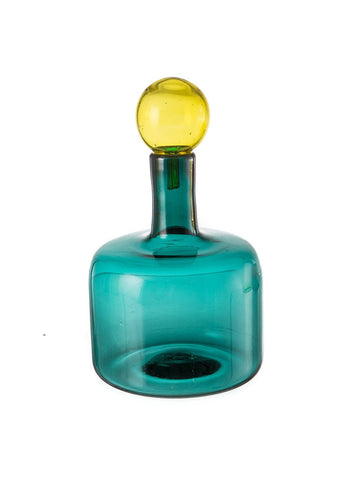 Dramatic Bottle w/Top - Wide Teal