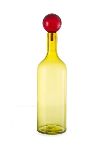 Dramatic Bottle w/Top - Tall Lemon
