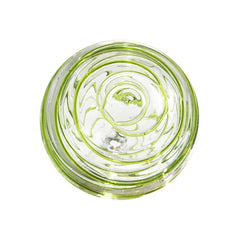 Sphere - 4.5 in. Clear w/Lime Threads