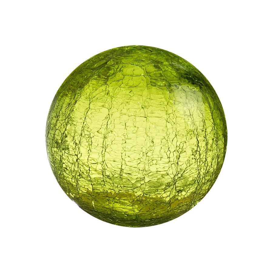 "Sphere - 4.5"" Lime Crackle"