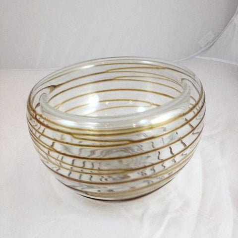 "Thread Bowl - 10"" Amber"