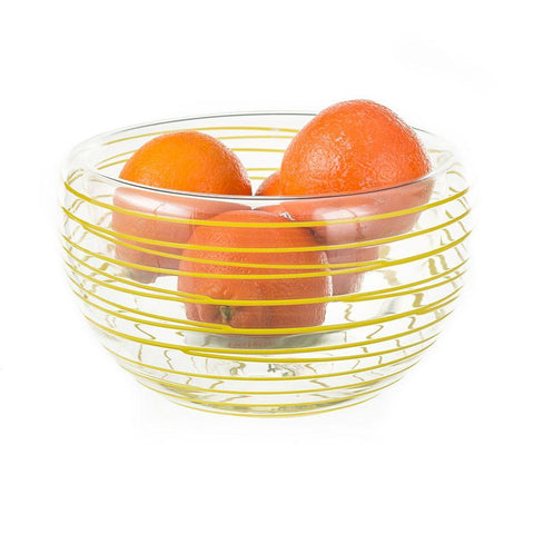 "Thread Bowl - 10"" Opaque Lemon"