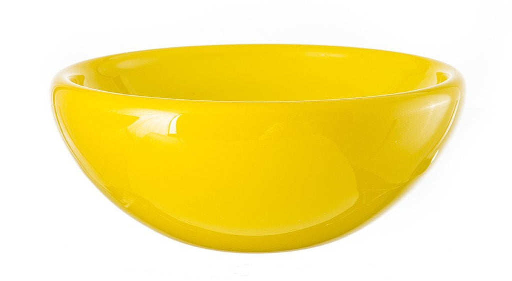 "Whitewashed Bowl - 13"" Lemon"