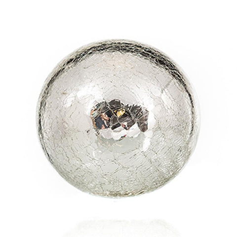 "Sphere - 4.5"" Silver Crackle"
