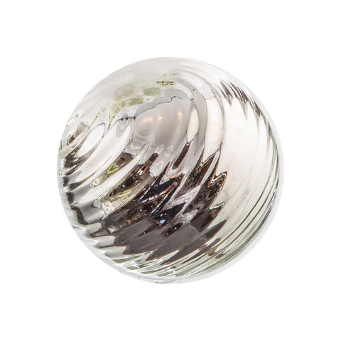 "Sphere - 4.5"" Silver Twirled"