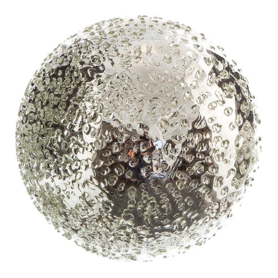"Sphere - 8"" Silver Iced"