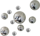 Wall Spheres - Silver ~ Set of 11