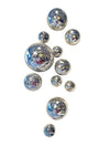 Wall Spheres - Silver Crackle ~ Set of 11
