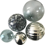 Sphere Set of 5 - Smoke Speckled