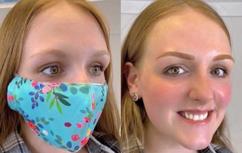 Case Study Before and Immediately After Combination Eyebrow Case Study in Toffee
