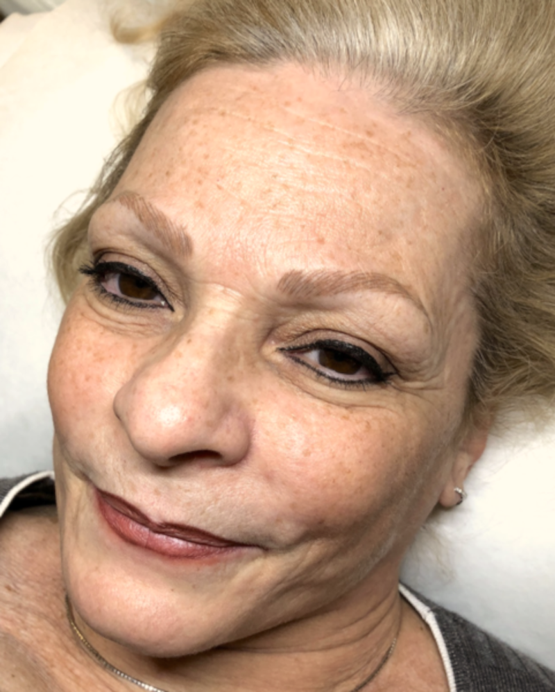 Tina Davies Case Study Healed Results after Microblading on Mature Skin