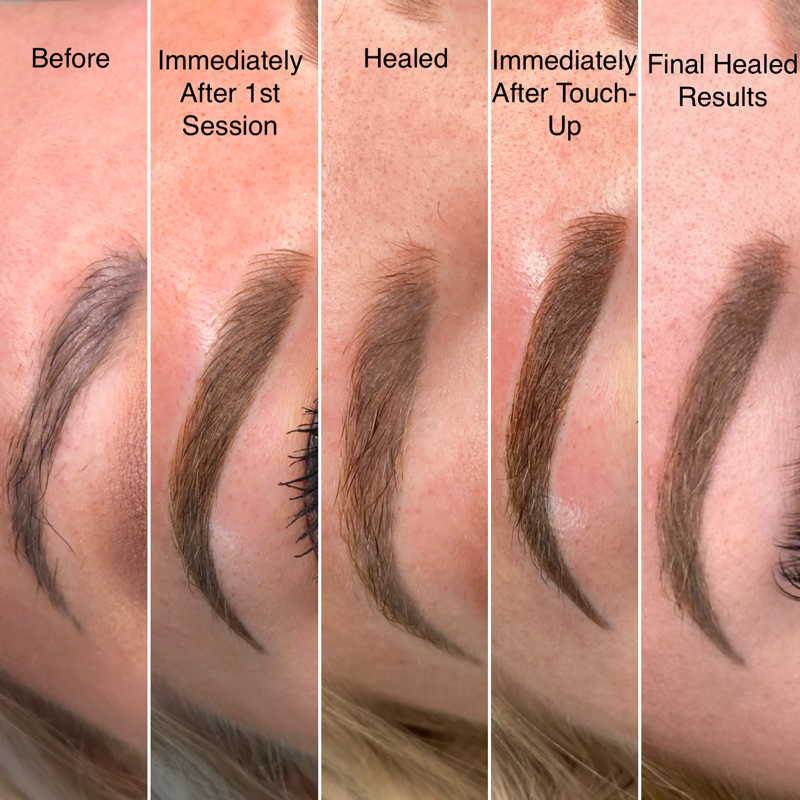 Ashy Brow Colour Correction Case Study Full Results
