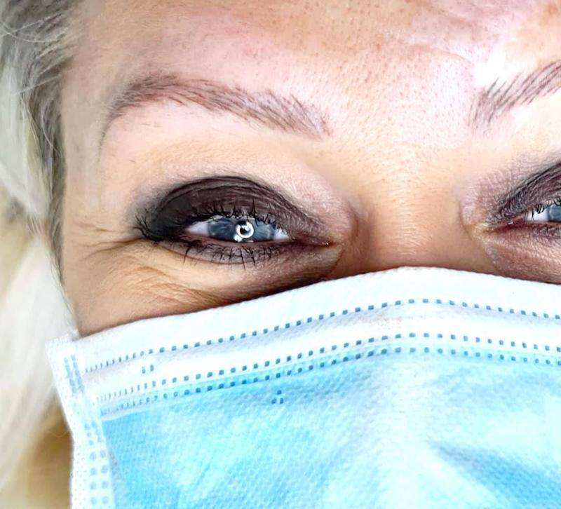 Case Study Nanobrows and Tattooing with Scarring on Tina Davies Professional