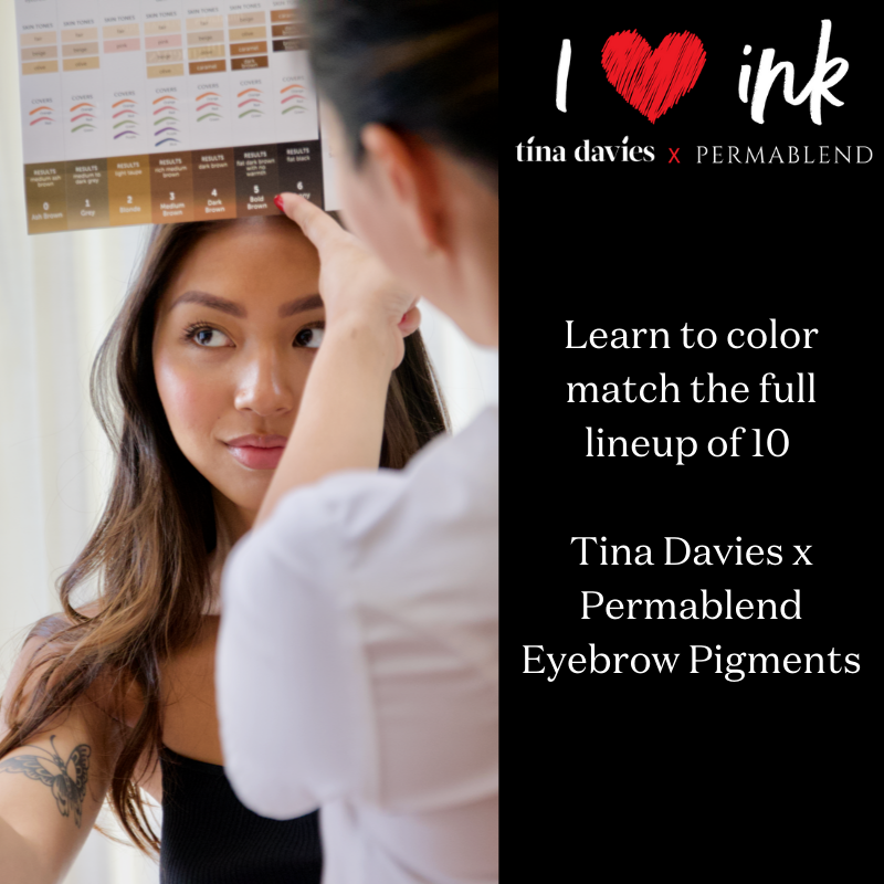 Tina Davies I Love Ink Beauty In Color Online Course for permanent Makeup Artists