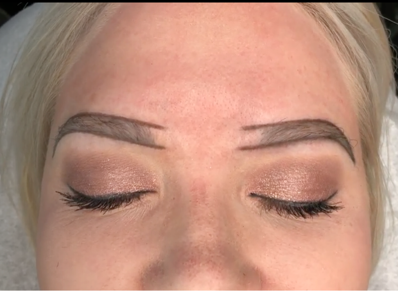 Ashy Brow Color Correction Case Study Pre-Draw