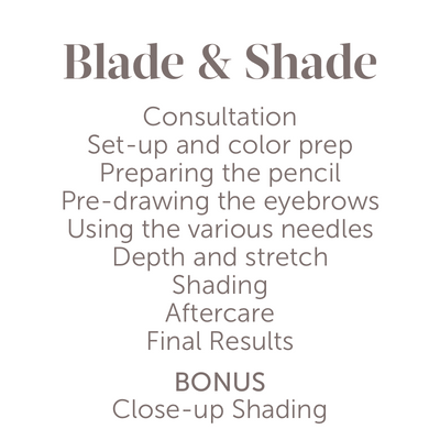 Blade & Shade Video Tutorial - Tina Davies Professional