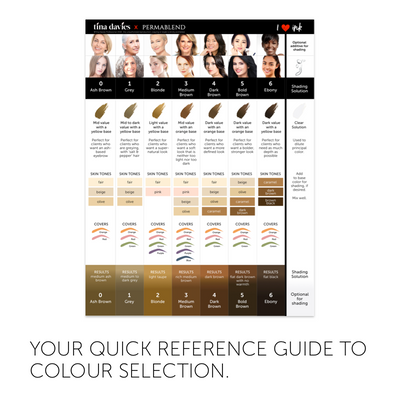 I ❤️ INK Eyebrow Pigment Color Chart
