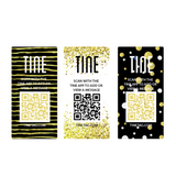 Luxe Gold & Glitter Theme Stickers/Tags - 16 Count