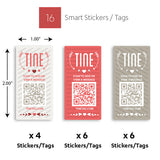 Premium Sweetheart Theme Stickers/Tags - 16 Count