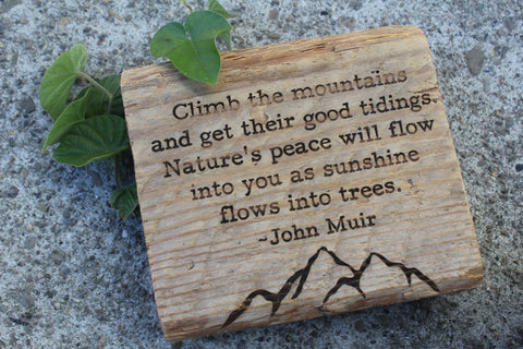 John Muir - Climb the mountains