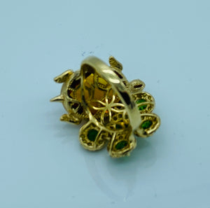 14k Yellow Gold Turtle Ring