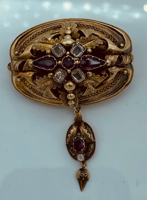 Victorian 14K Yellow Gold Brooch