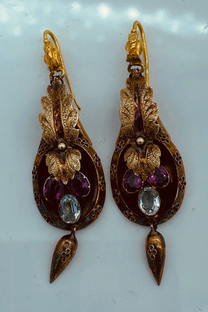 Victorian 14K Yellow Gold Drop Earrings