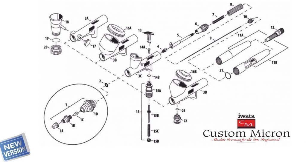 Custom Micron Airbrush Part Guide