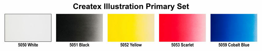 illustration Primary Opaque Color Swatches