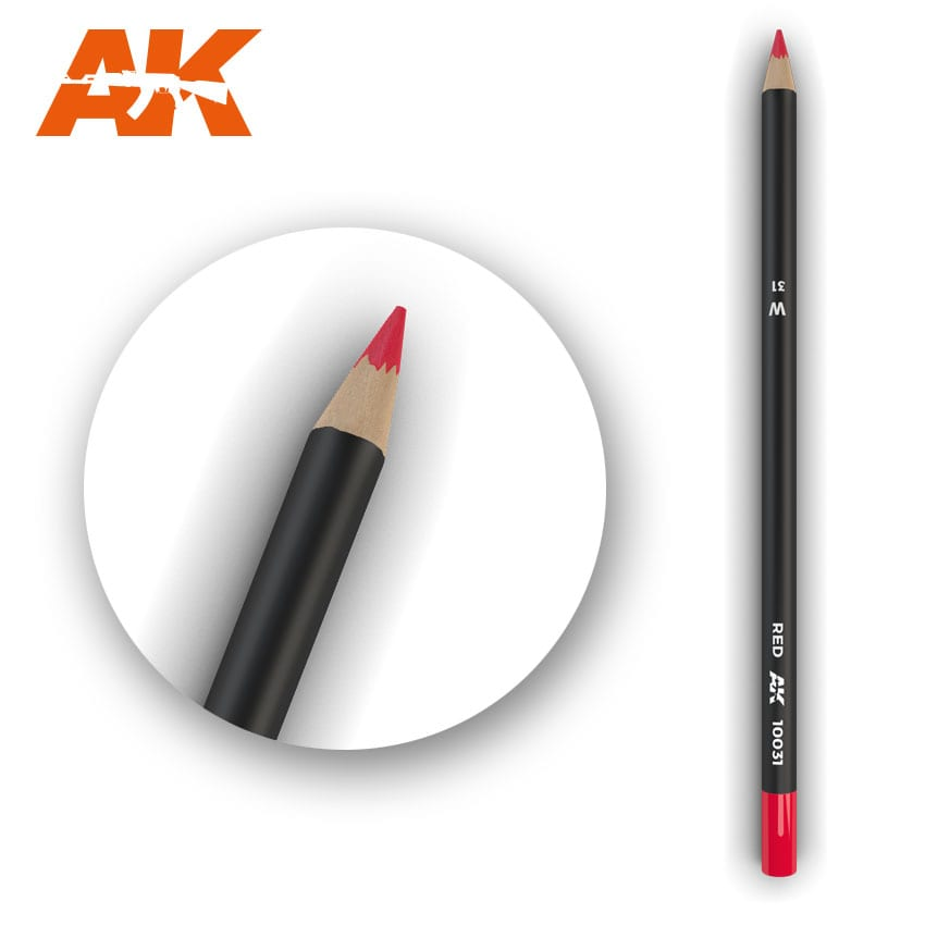 AK Interactive Watercolor Weathering Pencil Red
