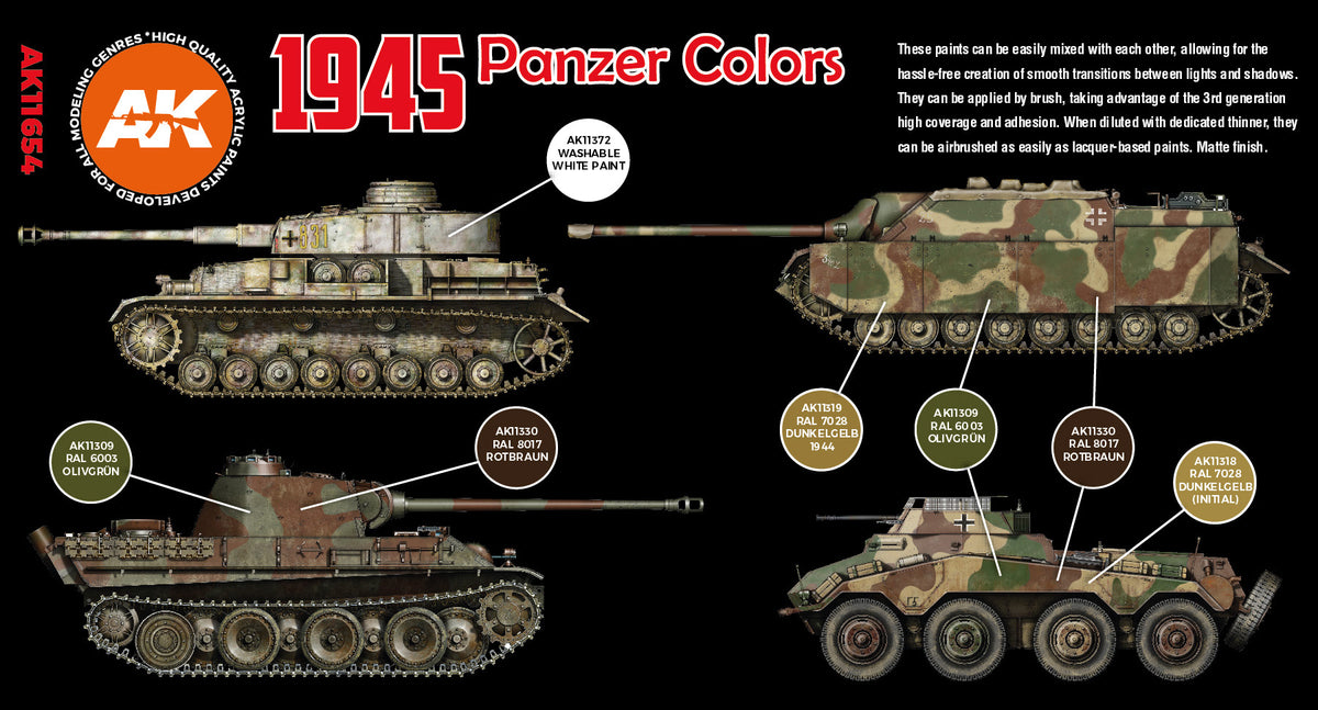 3G 1945 German Panzer Late Colors