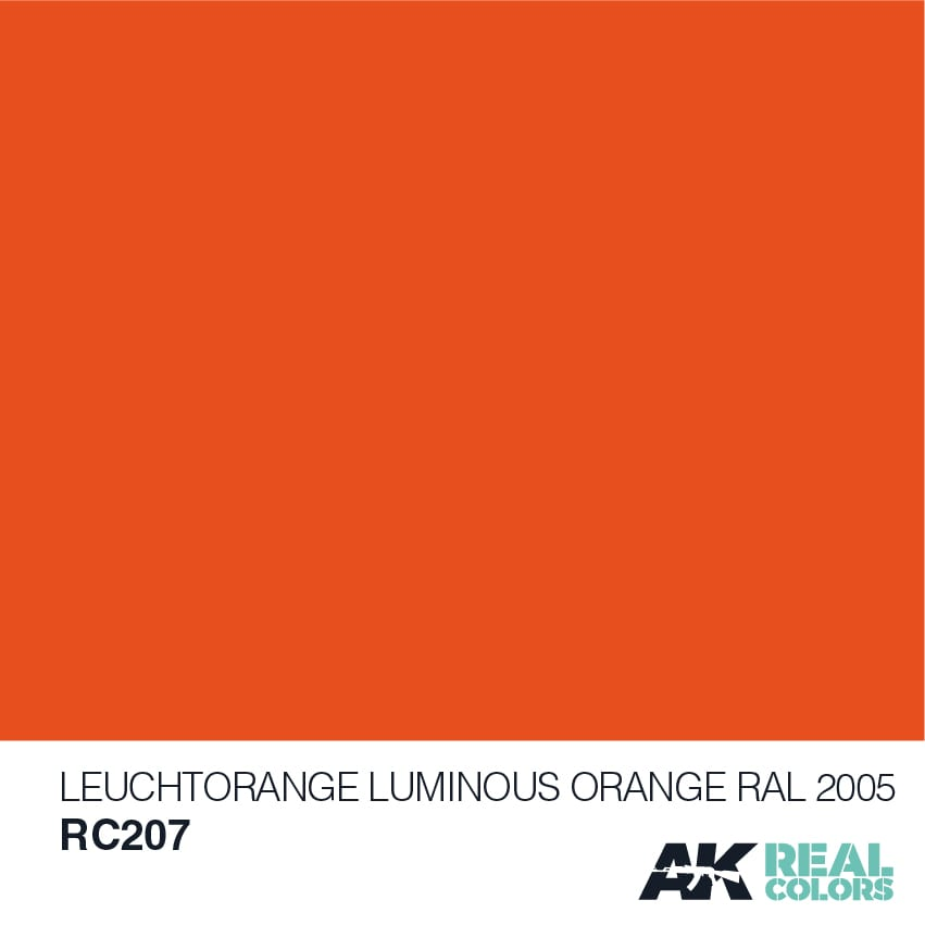 AK Interactive Real Colors Leuchtorange-Luminous Orange RAL 2005 10ml
