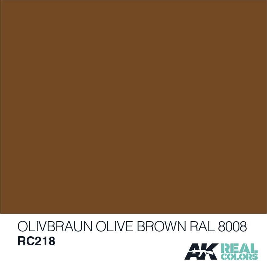 AK Interactive Real Colors Olive Braun-Olive Brown RAL 8008 10ml
