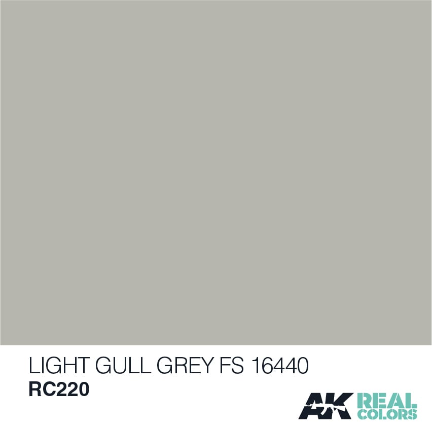AK Interactive Real Colors Light Gull Grey FS 16440 10ml