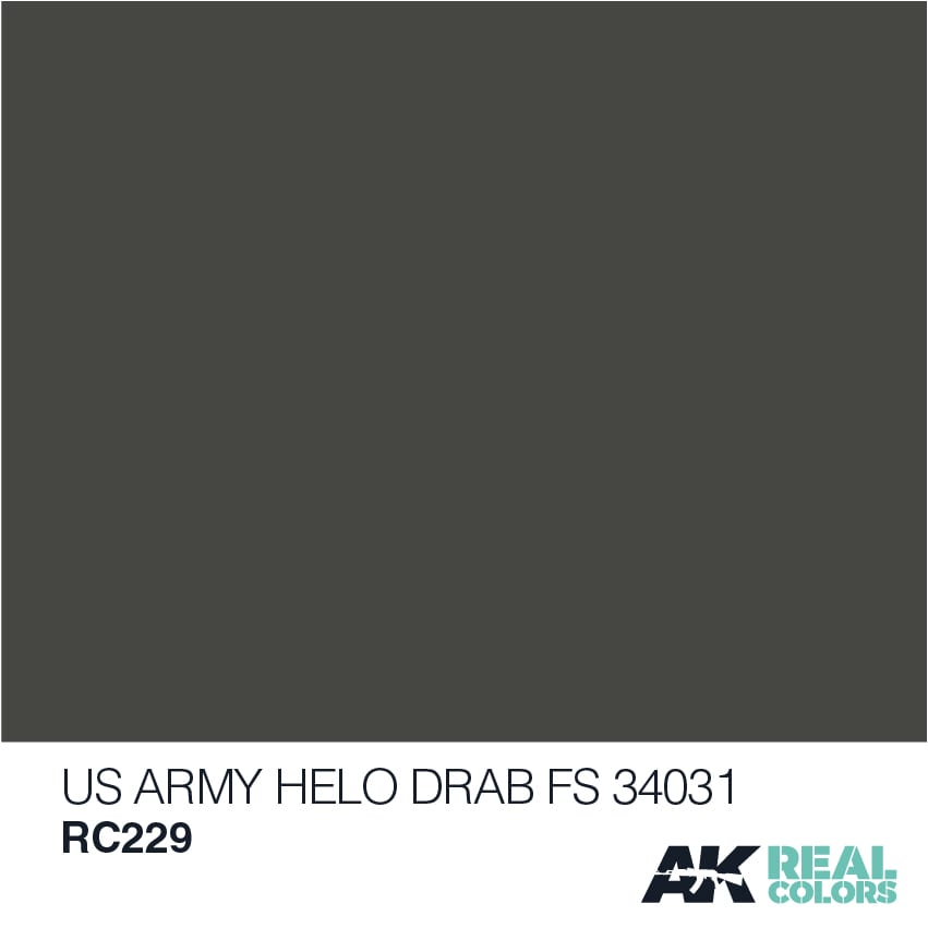 AK Interactive Real Colors US Army Helo Drab FS 34031 10ml