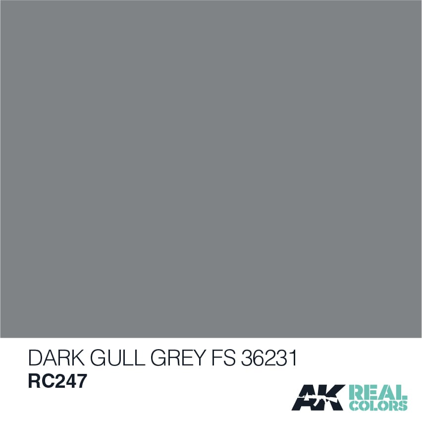 AK Interactive Real Colors Dark Gull Grey FS 36231 10ml