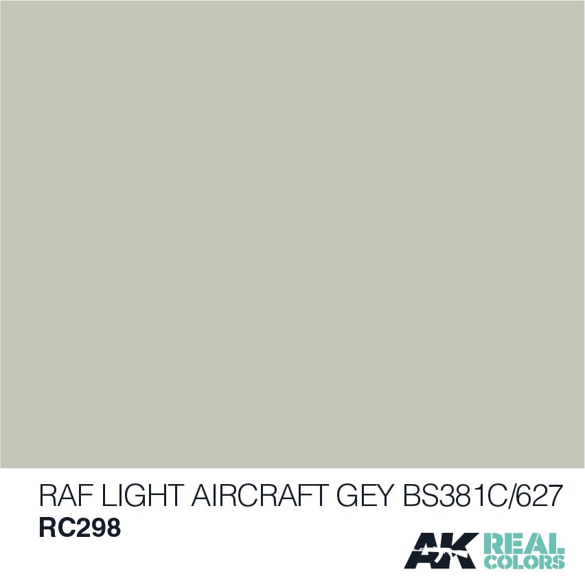AK Interactive Real Colors RAF Light Aircraft Grey BS381C/627 - 10ml