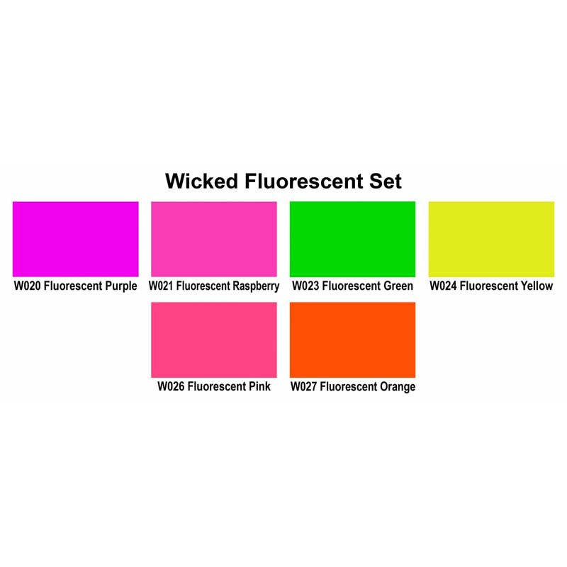 W103 Wicked Fluorescent Color Referance