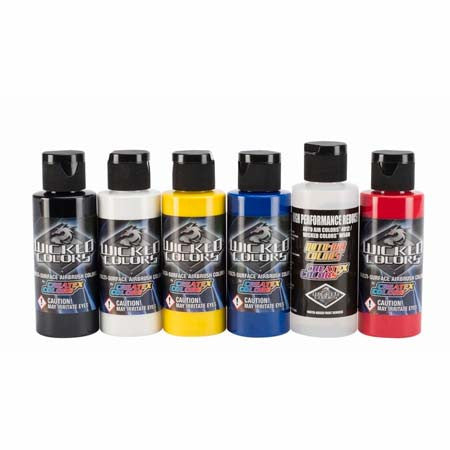 Createx Wicked Airbrush Paint Primary Set