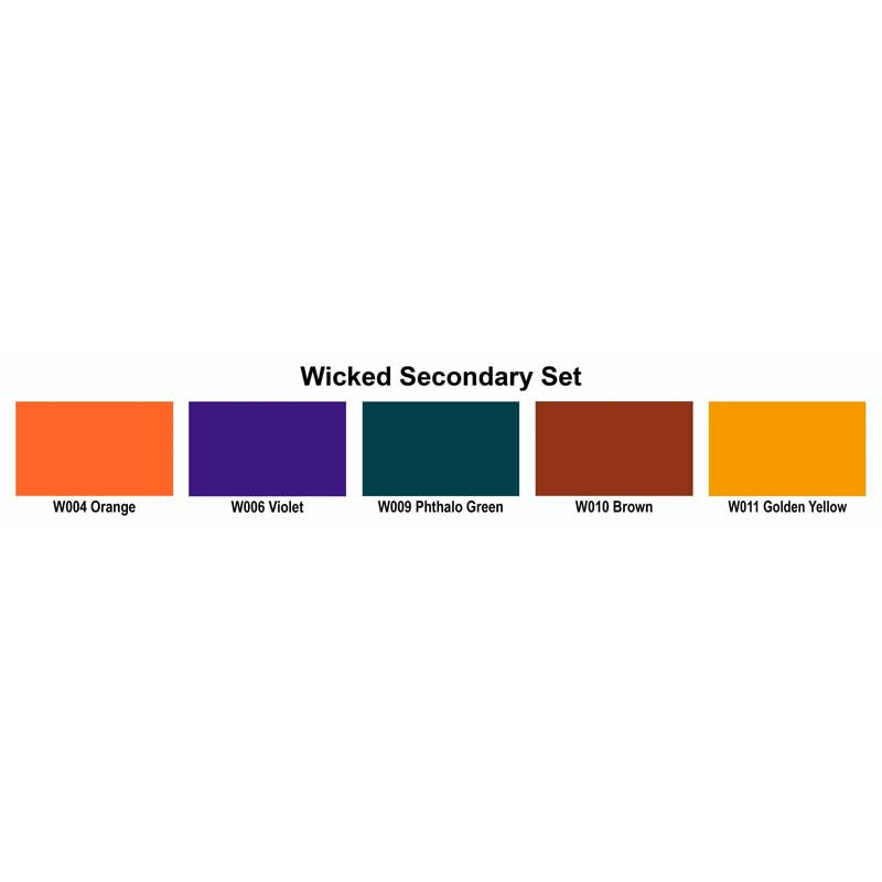 Wicked Secondary Set Color Swatches