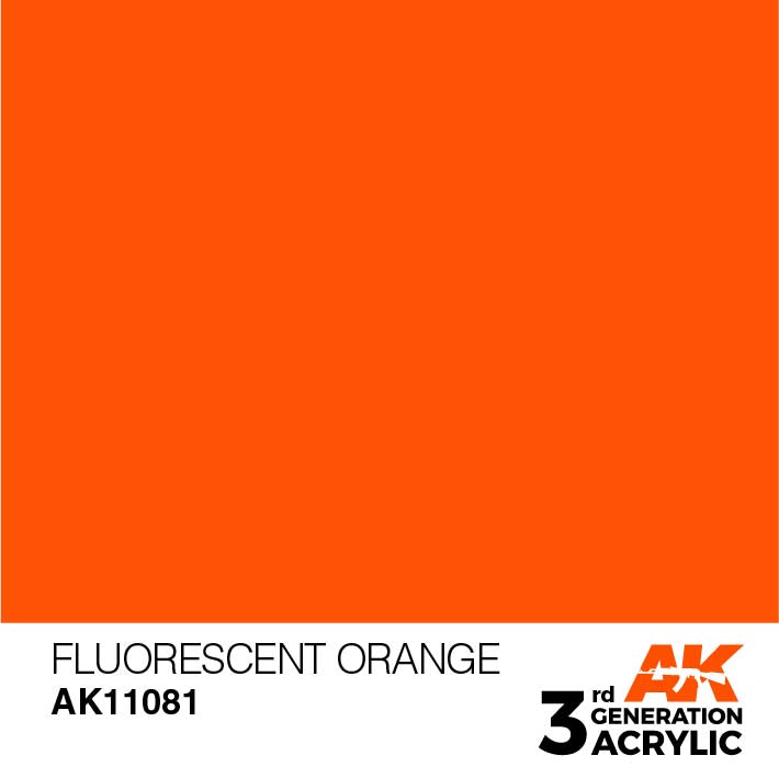 AK Interactive Paint 3rd Gen Paint: Fluorescent Orange AK11081
