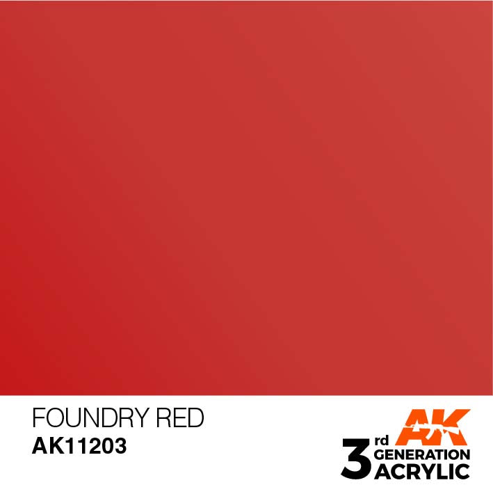 AK Interactive Paint 3rd Gen Paint: Foundry Red AK11203