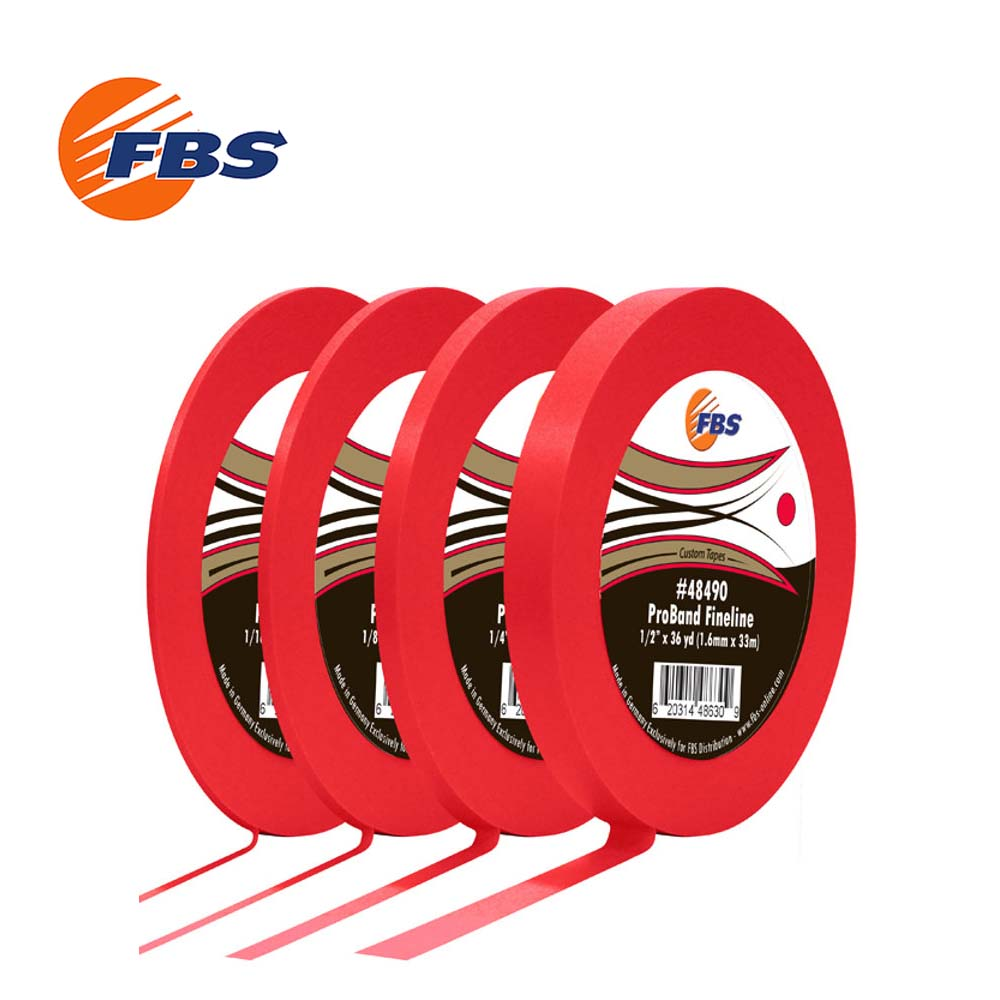 FBS Red ProBand Fine Line Tape features an extra soft