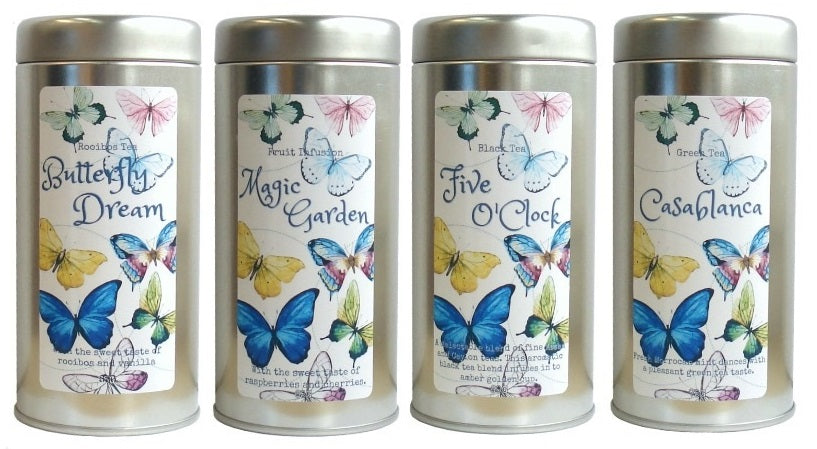 tea tin butterflies - Tea Desire
