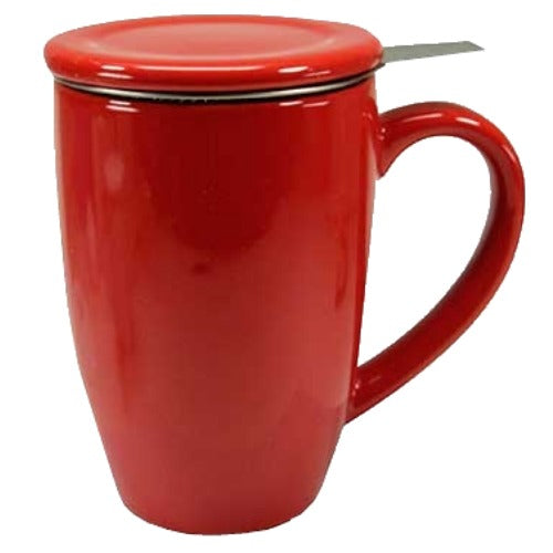 mug sw red with infuser - Tea Desire